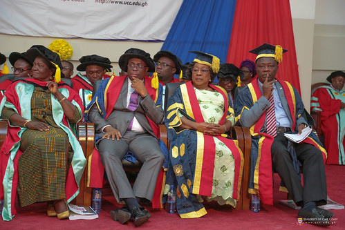 From Left to Right: Prof. Naana Jane Opoku Agyemang (Former Vice-Chancellor, UCC and Immediate Past Minister of Education of the Republic of Ghana), Prof. Joseph Ghartey Ampiah (Vice-Chancellor, University of Cape Coast), Mrs. Nancy O. C. Thompson (Chairman, University of Cape Coast) and Prof. George K. T. Oduro (Pro-Vice-Chancellor, University of Cape Coast) at the congregation.