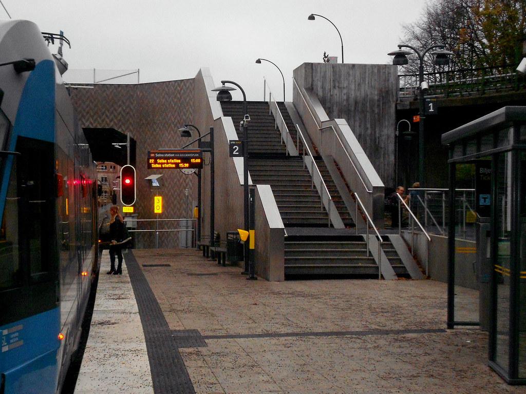 Sickla. Трамвайный вокзал.