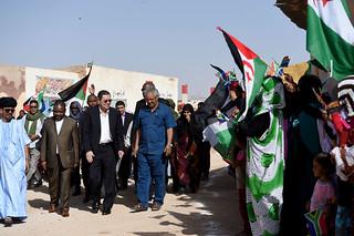 Deputy Minister Landers visits Saharawi Refugee Camps in South West Algeria