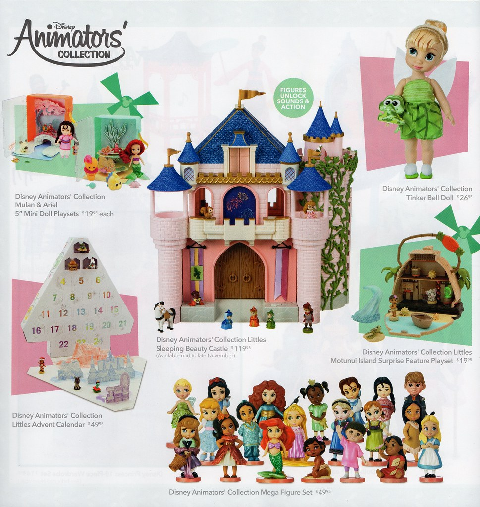 Disney Store Toy Book Holiday 2018 - Disney Animators' Col