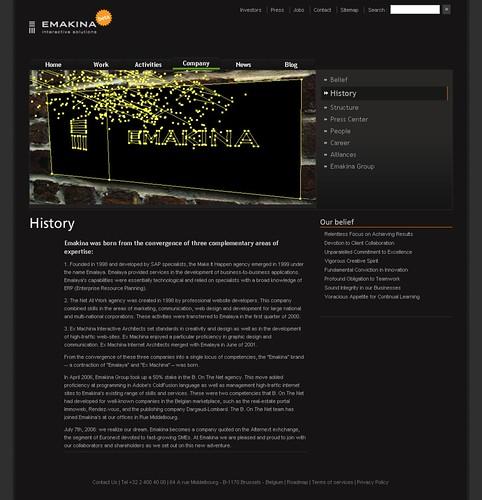 New Emakina Website   by Marin Gatellier