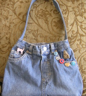 denim purse | by Lin Moon