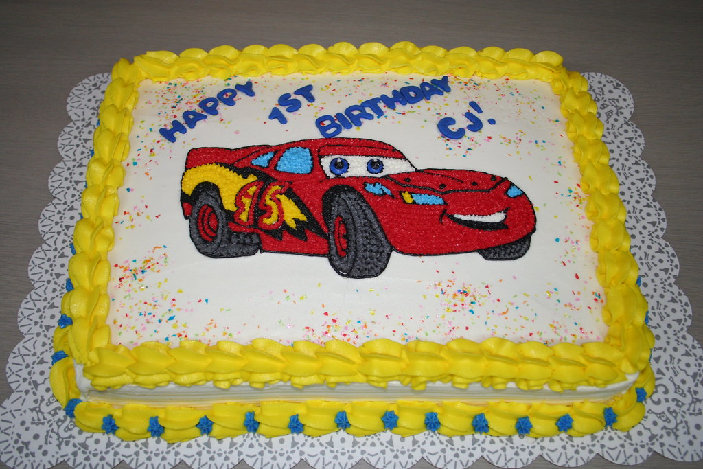 Stupendous Lighting Mcqueen Cake Please Let Me Know What You Think Of Flickr Funny Birthday Cards Online Overcheapnameinfo
