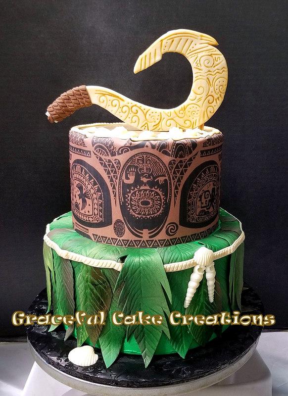 Moana themed Maui Birthday Cake   Grace Tari   Flickr