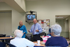 Reps. Stokes and Hall update Enfield Seniors on the 2018 Legislative Session