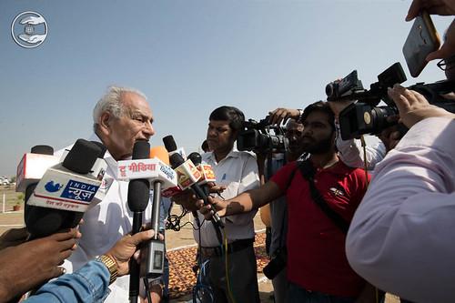 Member Executive Committee, Kirpa Sagar, speaking with media