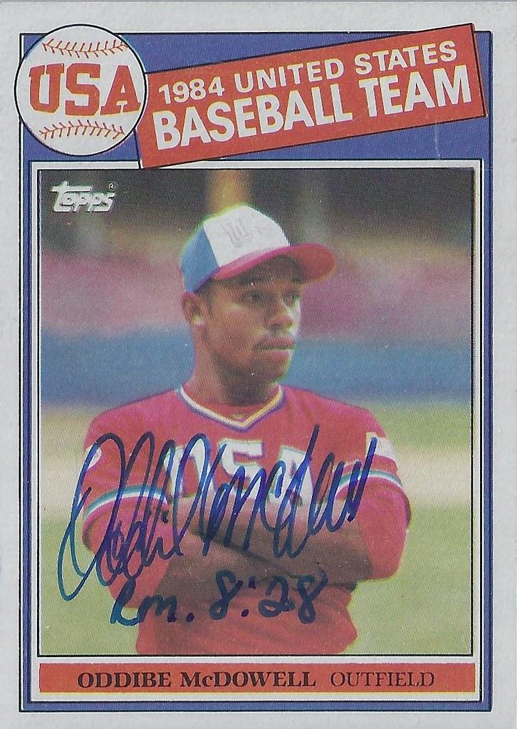 1985 Topps 1984 Usa Olympic Baseball Team Oddibe Mcdow Flickr
