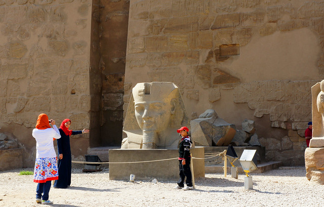 Taking a photo at Egypt's Luxor Templ