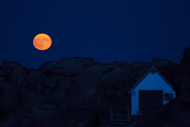 Cape Neddick Full Moon
