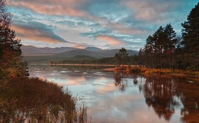 Sunrise on Loch Morlich