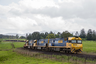 Pacific National NR Class 105/43/16 head 7WB3 through Nana Glen | by M Browne