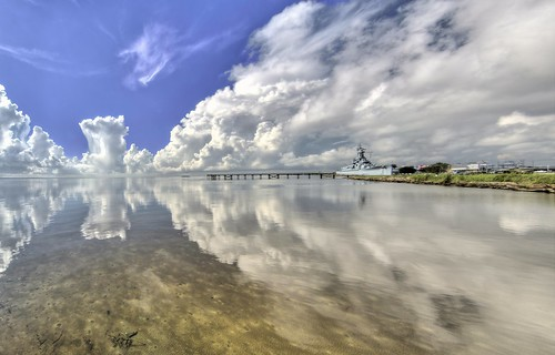 mobile alabama ussalabama water reflection southernstyle thunderstorms clouds moored surreal sky nature