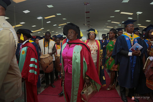 Prof. Naana Jane Opoku Agyemang, Former Vice-Chancellor, University of Cape Coast, and Immediate Past Minister of Education of the Republic of Ghana at the congregation