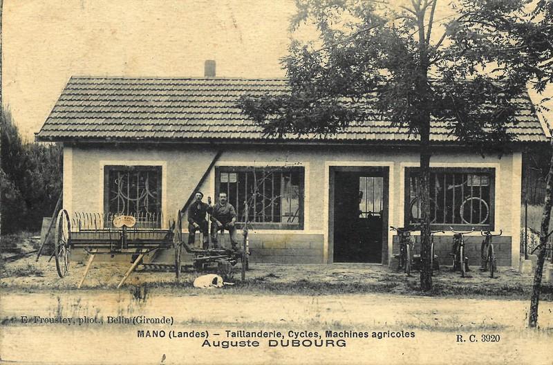 Pierre dit Auguste Dubourg(1892-1981), Forgeron-Taillandier à Mano