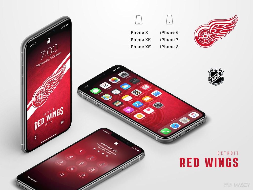Detroit Red Wings iPhone Wallpaper