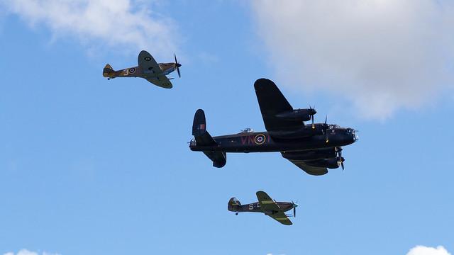 Battle of Britain Memorial Flight Flypast