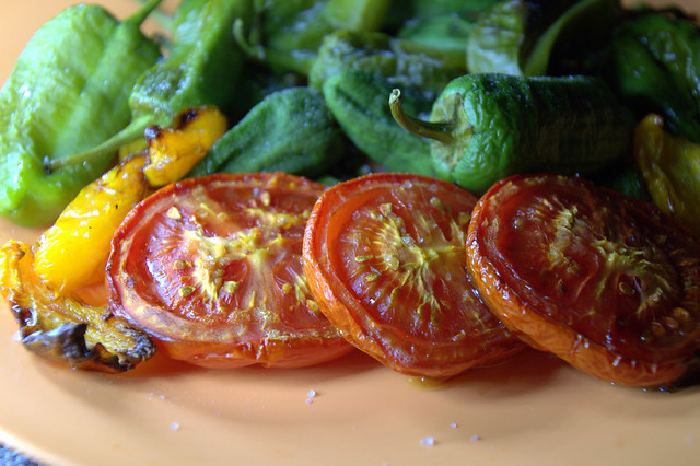 Dried Tomatoes and Padron Peppers