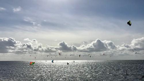 denmark windsurf water light sun