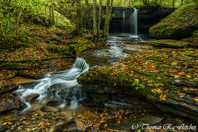 Upper Elk River Tributary Waterfall