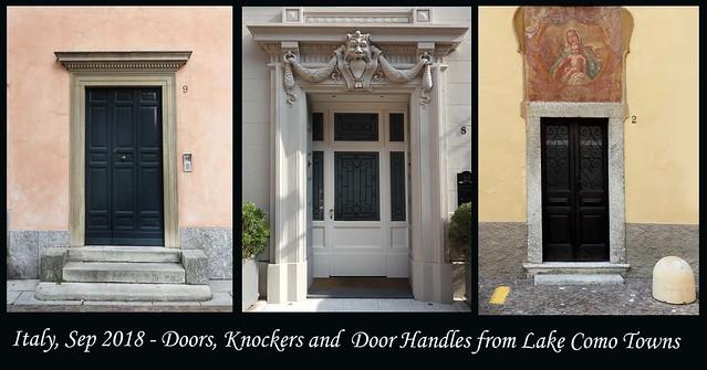 ITALY SEP 2018 - Lake Como Doors and Knockers (04 - 06)
