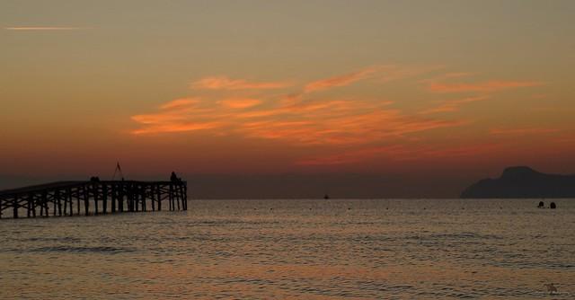 Alcudia majorca spain beach sunrise sept 2018  (38)