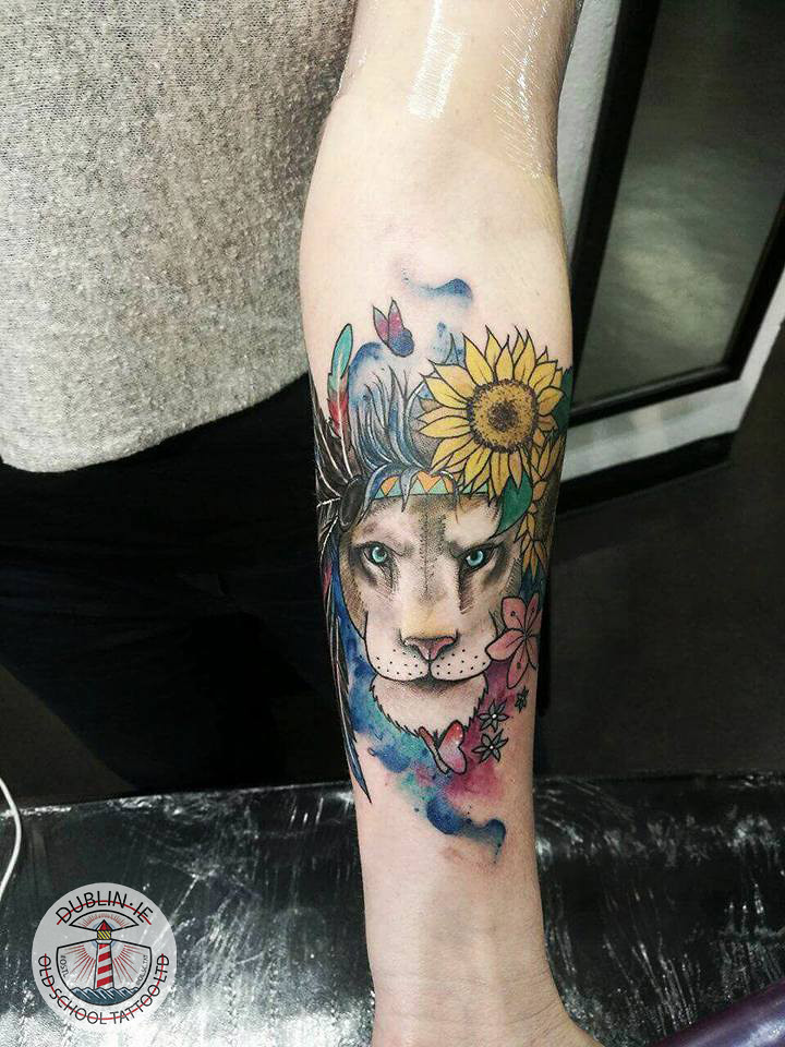 722f4e02f colorful lion tattoo | by vatroslav_ivanov colorful lion tattoo | by  vatroslav_ivanov