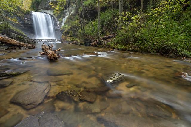 Looking Glass Falls, Looking Glass Creek, National Forests in North Carolina, Transylvania County, North Carolina 3