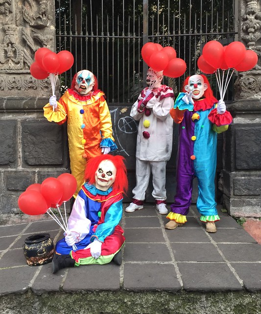 Day of The Dead clowns in Coyoacán Mexico City, Mexico.