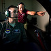 Keith Pannabecker, a remotely piloted aircraft qualification instructor pilot, right, discusses a training mission utilizing the T-6 Flight Simulator with Tech. Sgt. Ben, an enlisted RPA pilot student, at the 558th Flying Training Squadron at Joint Base San Antonio, Texas Jul. 17, 2018. Both officer and enlisted RPA student pilots spend 85 days in the RPA Instrument Qualification course (RIQ) and 30 days in the RPA Fundamentals Course (RFC) at the 558th FTS, during the second phase of the Air Education and Training Commandâs RPA pilot curriculum. Last names removed and obscured for OPSEC. (U.S. Air Force photo by J.M. Eddins Jr.)