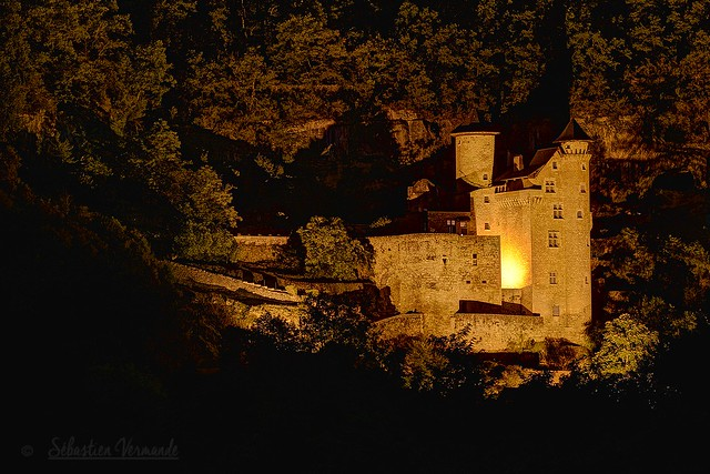Castle of Larroque-Toirac at night - Château de Larroque-Toirac de nuit, 46100