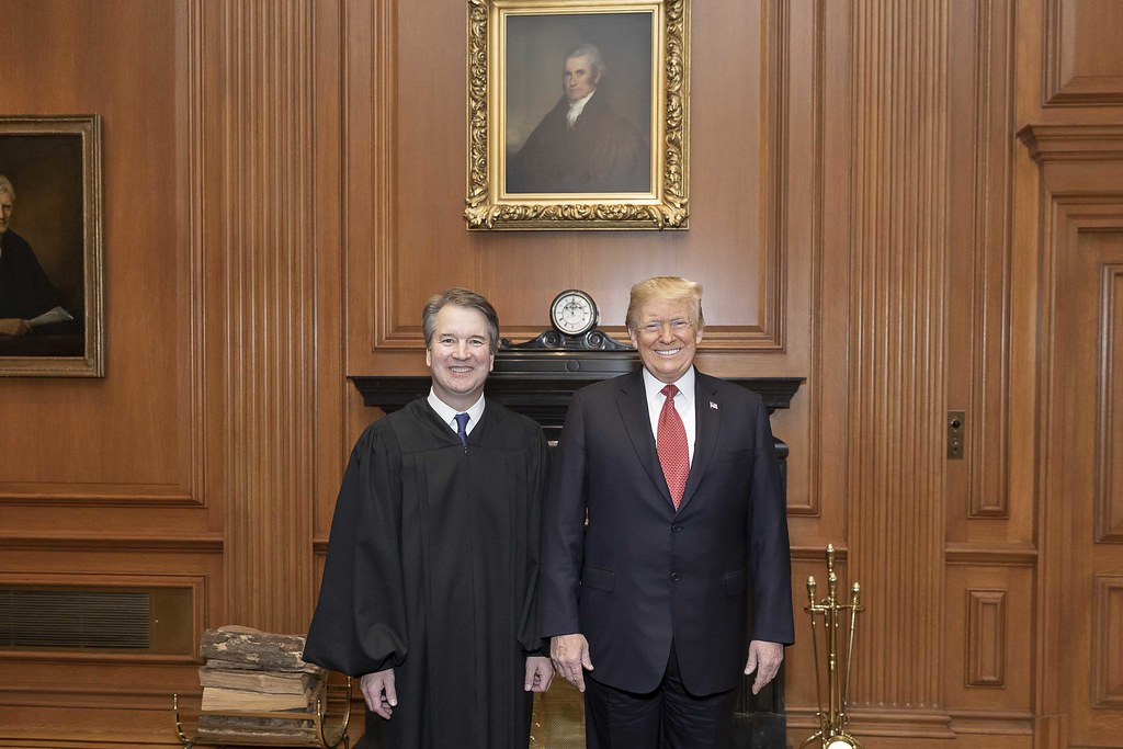 President Donald J. Trump and Supreme Court Justice Brett Kavanaugh