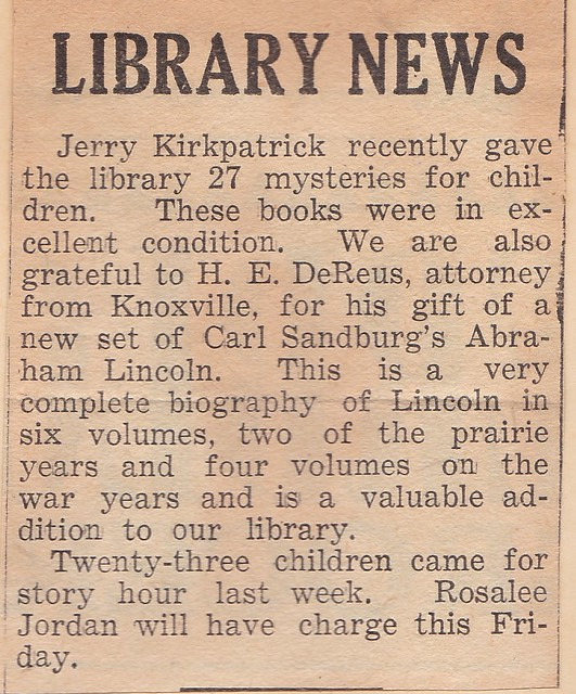 SCN_0015 Library News by Marian featuring Jerry Kirkpatrick mystery donation