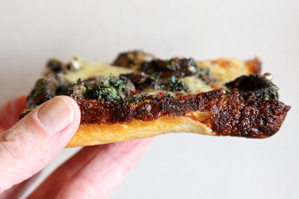 Mushroom Pizza View Of Crust Lions Tigers Squares