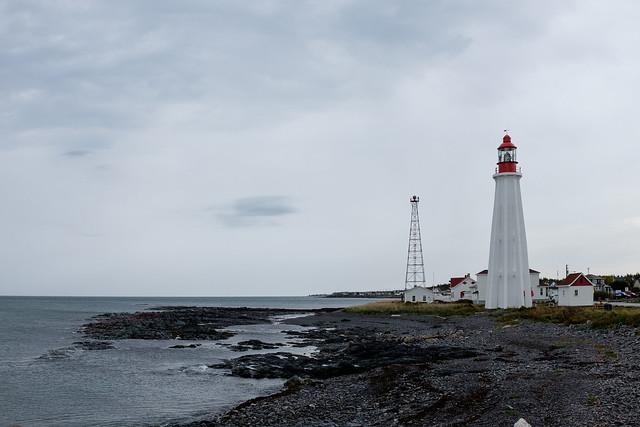 Historical lighthouse near Rimouski, Canada