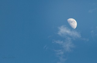 Moon in the daytime sky | by Photography By Steve daPonte
