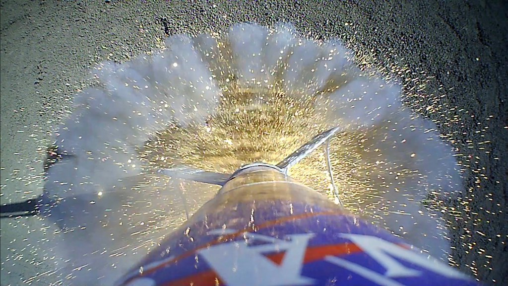 Rocket POV of 3D-Printed Bowtie Fins |      with a big NASA
