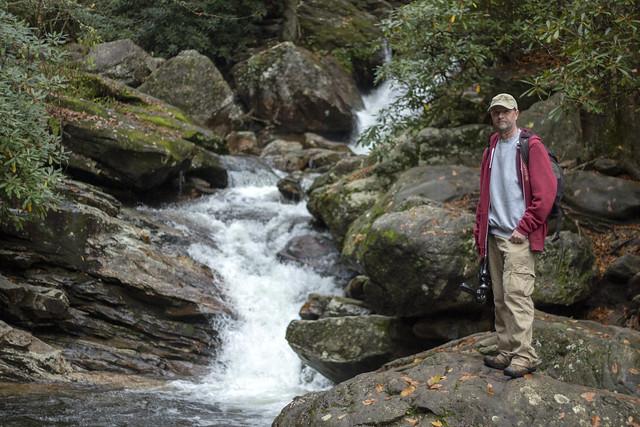 Dave Halbig, Skinny Dip Falls, Yellowstone Prong, Blue Ridge Parkway, Haywood County, North Carolina
