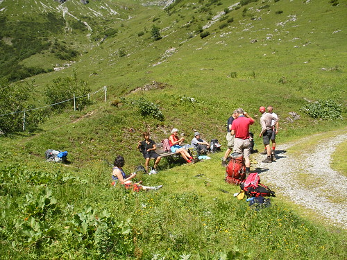 Lechtaler alpen, basiskamp