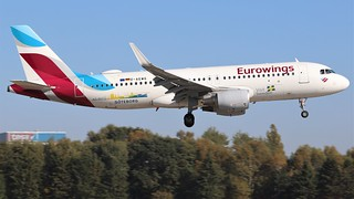 Eurowings _ A320 _ D-AEWG (Visit Sweden Colours) @HAM 14.10.2018 | by Sebastian Lupp
