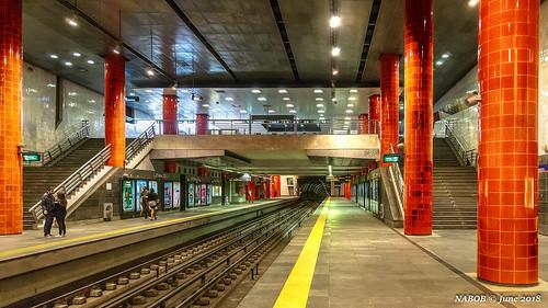 Lisbon, Portugal: Chelas metro station (Red [Vermelha] Line)
