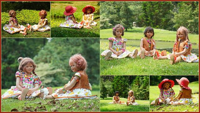 Kindergartenkinder im Schlosspark Arcen ...