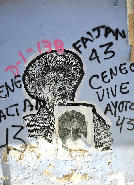 Ayotzinapa Protests Art Oaxaca Mexico