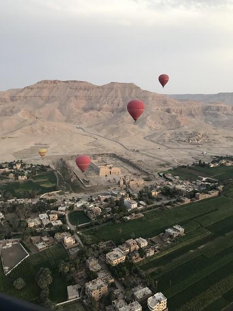 Hot Air Balloon Flight, West Bank, Luxor, Egypt.