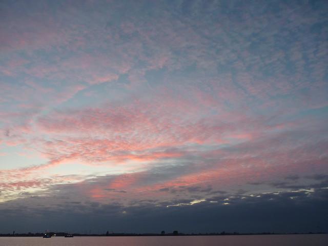River Elbe at dusk