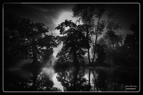 "fishing angling landscape blackandwhite monochrome lowlight blackwhite sport mist misty morning woodland ""flickrtravelaward"" nikon shrewley farm lake shrewleyfarmlake"