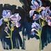 'Irises', 40x40cm, OIl on board