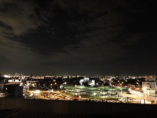 屋上展望デッキからの夜景 西〜西南方向 BA804874-CC94-4A9C-AA01-0275B53FE4AC
