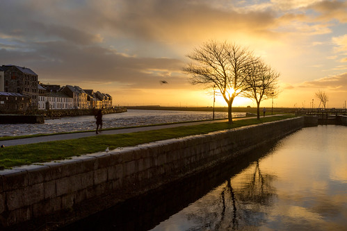 galway ireland sunrise river water