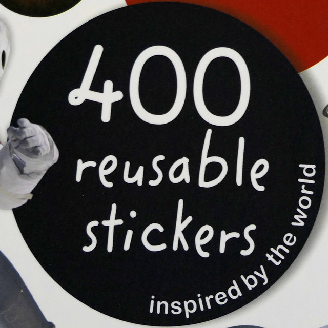 400 reusuable stickers