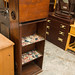 Dark wood shelf unit E40